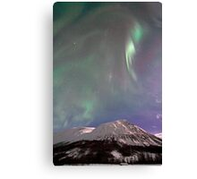 Arctic Aurora Borealis in December Canvas Print