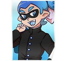 Blue Gakuran Squid Poster