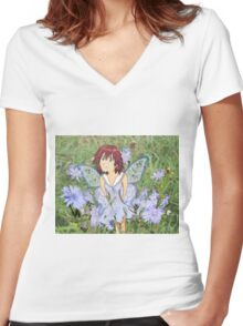 Fairy Type Five Women's Fitted V-Neck T-Shirt