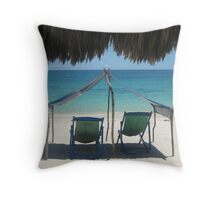 Playa Blanca Throw Pillow
