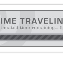 Time Traveling Pop Up Window Sticker