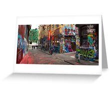 Corner Hosier Lane and Rutledge Place Greeting Card