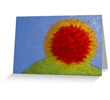 Ink spread sunrise Greeting Card