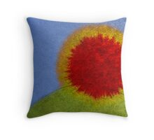 Ink spread sunrise Throw Pillow