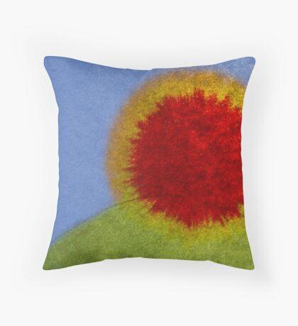 Ink spread sunrise Throw Pillow