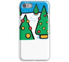 Christmas Landscape Card  iPhone Case/Skin