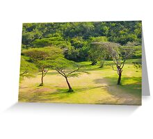 Masai Lodge Park, KENYA Greeting Card
