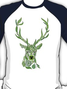 Geo-Stag Green  T-Shirt