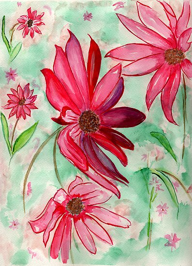 The Red Flowers for Christmas by Anne Gitto