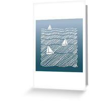 Sailing in the Ocean Greeting Card