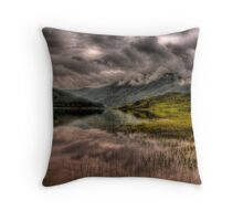 Low clouds over the Glen Finglas Reservoir Throw Pillow