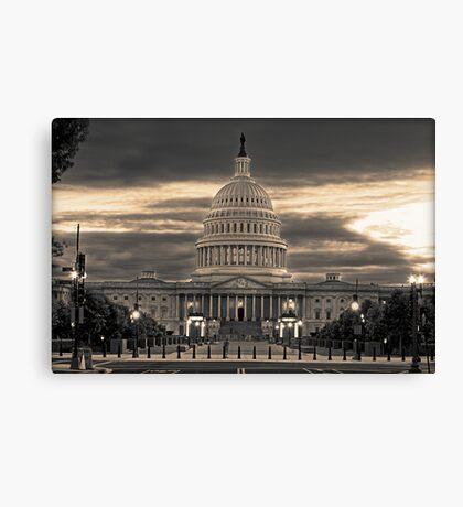 The Capital at Dusk Canvas Print