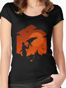 Valley Of Fire Women's Fitted Scoop T-Shirt