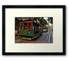 Xmas Cable Car, San Francisco 2010 Framed Print