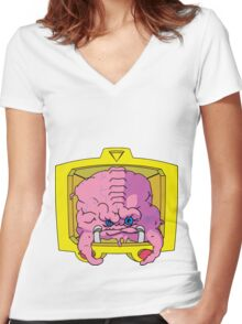 KRANG! Women's Fitted V-Neck T-Shirt