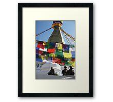 Boudhnath Stupa Framed Print