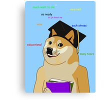 Doge - Back To School Canvas Print