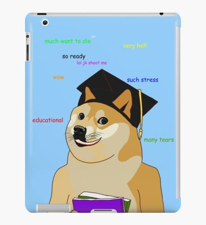 Doge - Back To School iPad Case/Skin