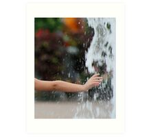 Childs Hand in Water Art Print