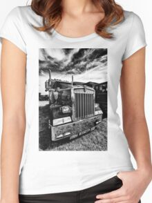 Could This Be A Transformer Truck In Hiding ? Women's Fitted Scoop T-Shirt