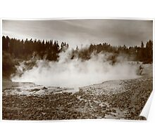 Yellowstone National Park - Mud Pots Poster