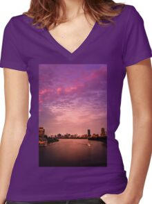 Charles River , Boston Women's Fitted V-Neck T-Shirt