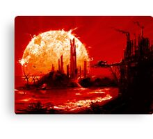 Dawn of a Dying Sun Canvas Print