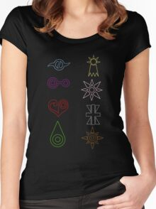 Crest Zip up Women's Fitted Scoop T-Shirt