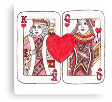 King and Queen of Hearts Canvas Print