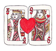 King and Queen of Hearts Photographic Print