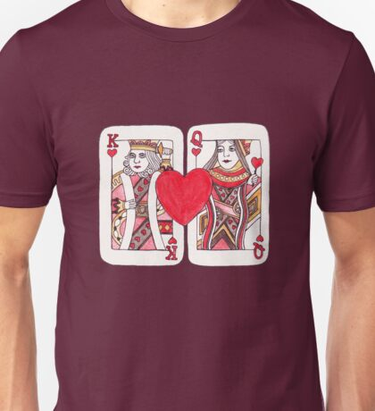 King and Queen of Hearts Unisex T-Shirt