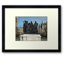 The Burghers Of Calais, in London, by Rodin Framed Print