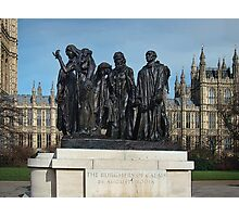 The Burghers Of Calais, in London, by Rodin Photographic Print