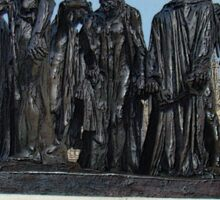 The Burghers Of Calais, in London, by Rodin Sticker