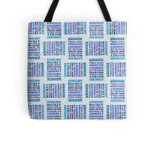 Hockey In Different Languages Tote Bag