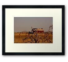 out,outback Framed Print