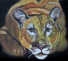 Night Staulker -- cougar by Linda Sparks