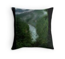 Gold Creek Lookout HDR Throw Pillow