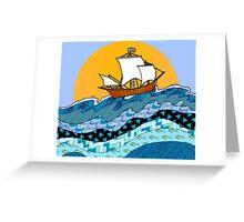Sailing the High Seas Greeting Card