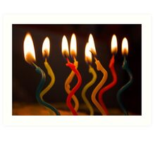 curly candles Art Print