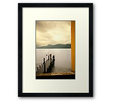 Italian Dock and Fisherman Framed Print