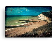 Greetings From Saltdean, We Wish You Were Here! Canvas Print