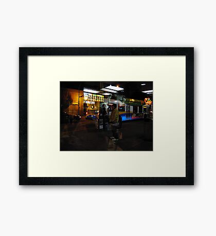 Reflections of Urban Street Life 134 Framed Print