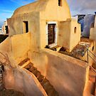 On top of Pyrgos village, Santorini island by Hercules Milas
