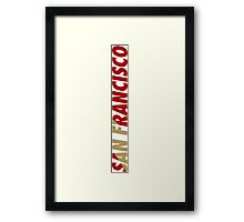 San Francisco SF Framed Print