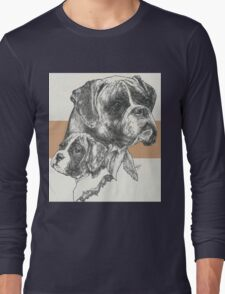 Boxer, uncropped, Father & Son Long Sleeve T-Shirt