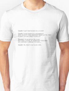 Castle and Beckett - How to find Beckett Unisex T-Shirt