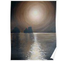 Chocolate sunset - Faraglioni, Capri Poster