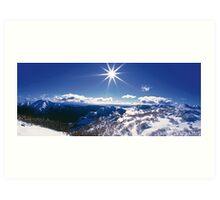 Sunburst over Mt Feathertop and Mt Jaithmathang Art Print