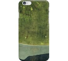World War II Map of Utah Beach Normandy France (1944) iPhone Case/Skin